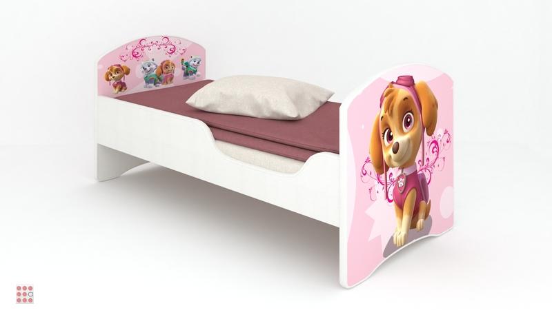 Кровать CLASSIC «ЩЕНЯЧИЙ ПАТРУЛЬ – СКАЙ»