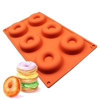 """Силиконовая форма для выпечки и заморозки """"Пончик"""""""