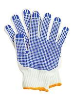 Рабочие перчатки хб с ПВХ 6 нитей
