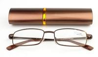 """Очки лекторы крупные """"ручка"""" в футляре (коричневые)"""