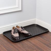 Лоток для обуви 63х35х1,5 см черный