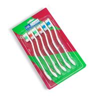 """Набор цветных зубных щеток """"Dr. Crust"""" 6 шт"""