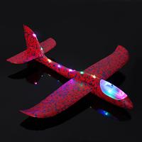 Самолет из пенопласта с LED лентой 48 см