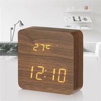 Электронные часы в деревянном корпусе VST-872-1 красные цифры