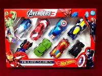 """Набор коллекционных машинок """"Hot Wheels Avengers 3"""" Супергерои, 8 шт"""