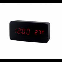 Электронные часы в деревянном корпусе VST-862-1 красные цифры