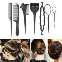 Набор аксессуаров для укладки и окраски волос, 6 предметов