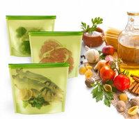 Силиконовый герметичный пакет-контейнер для хранения продуктов, 1,5 л