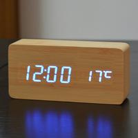 Электронные часы в деревянном корпусе VST-862-5 синие цифры