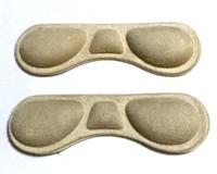 Тканевые вкладыши с силиконом от натирания пяток