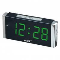 Часы настольные VST 731-2 зелёные цифры
