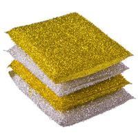 Губки золото-серебро 4шт