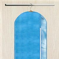 Чехол для одежды на молнии с окошком, 60х130 см