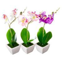 """Цветы в кашпо """"Орхидеи"""" 22см"""