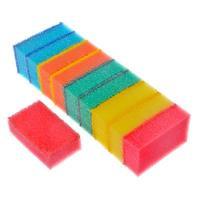 Набор губок для мытья посуды 10шт 8х5х2,5см