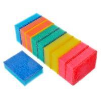 Набор губок для мытья посуды 10шт 9х6,5х2,5 см