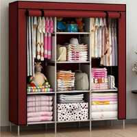 Мобильный тканевый шкаф Storage Wardrobe (130х45х175 см) 88130