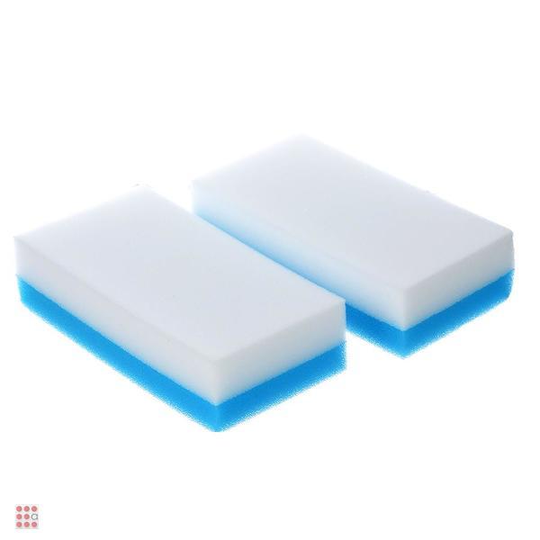 Набор губок-ластиков 2-в-1, меламин + полиуретан, 2 шт