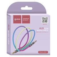 Аудиокабель AUX Dream JD419, цветной 1 м
