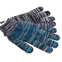 Рабочие перчатки хб с ПВХ 6 нитей, графит