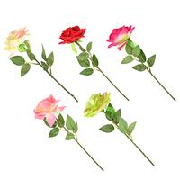 Цветок искусственный в виде розы, 55см