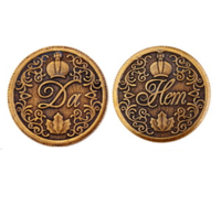 Монета с короной ДА-НЕТ d30мм