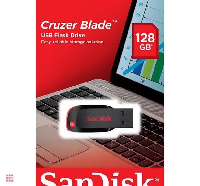 USB Flash накопитель черный SanDisk Cruzer BLADE 128Gb