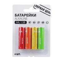 """Батарейка """"Alkaline"""" щелочные AA (R6), 4шт"""