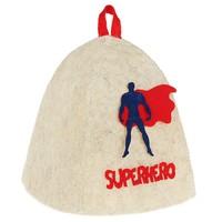 """Шапка банная с аппликацией """"Супергерой"""""""