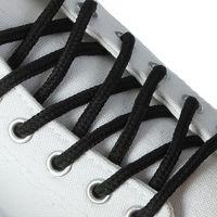 Шнурки для обуви круглые плетеные, чёрные, коричневые 2 шт