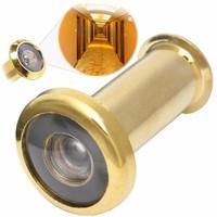 Глазок дверной со шторкой золотой