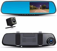 Автомобильный видеорегистратор в зеркале заднего вида (2 камеры) DV180