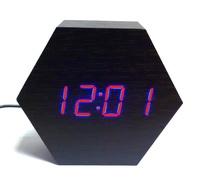 Электронные часы в деревянном корпусе VST-876-1 красные цифры