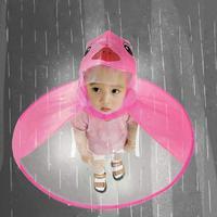 Детский круглый зонтик дождевик