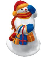"""Гипсовые фигурки для раскрашивания """"Снеговик"""""""