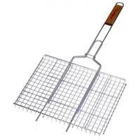 Решетка для гриля с деревянной ручкой, 35х25 см