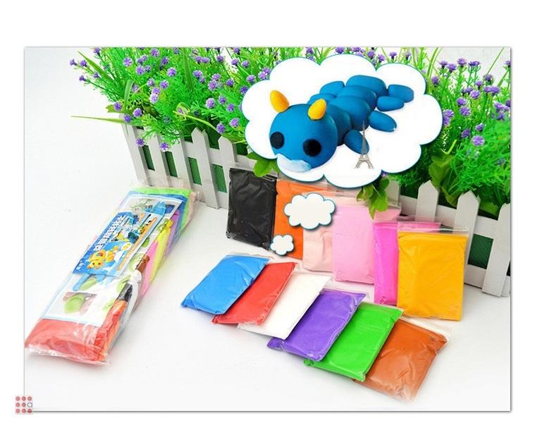 Воздушный пластилин, набор 12 цветов (170гр)