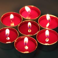 Набор чайных свечей, цветные 100 шт