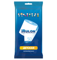Детская влажная туалетная бумага Mon Rulon, 50 шт