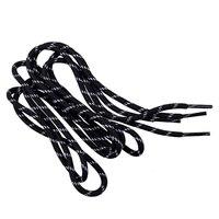 Шнурки для обуви плетеные двухцветные, чёрно-белые, 2 шт