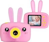 """Детский цифровой фотоаппарат + чехол """"С ушками"""" в подарок"""