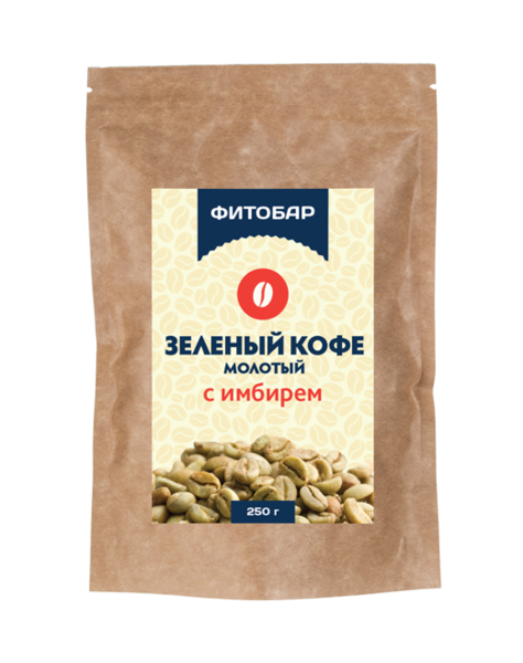 Кофе зеленый молотый с имбирем 250 гр