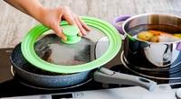 Многоразмерная крышка для посуды, Силиконовый ободок, 20см, 22см, 24см