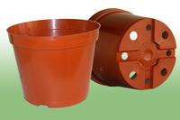 Горшок для растений круглый, цветной, 3л без поддона