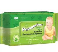 Детские влажные салфетки с клапаном Pamperino, 80шт