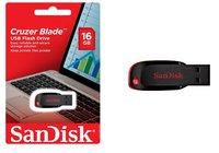 USB Flash накопитель черный SanDisk Cruzer BLADE 16Gb