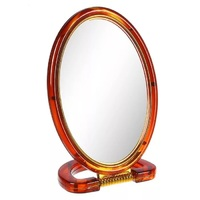 """Зеркало настольное овальное двухстороннее 8"""""""