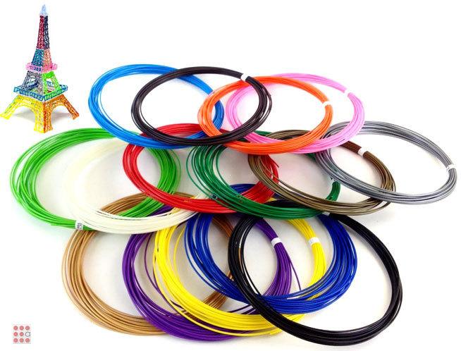 Набор цветного PLA-пластика для 3D-ручек 10м, 6 цветов