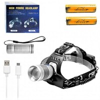 Налобный + ручной USB фонарь P-TS 18-T6 2 в 1