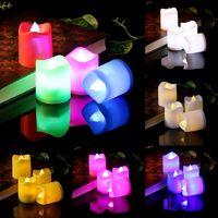 Мерцающая LED свеча, цветная